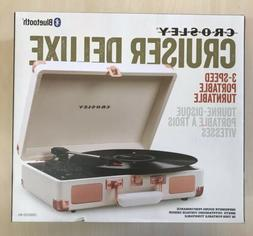 Crosley Cruiser Deluxe Portable 3 Speed Bluetooth Record Pla