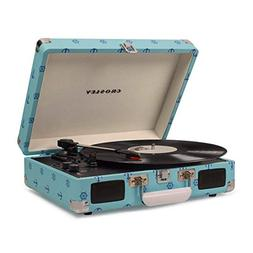 Crosley Cruiser Deluxe Portable 3-Speed Turntable with Bluet