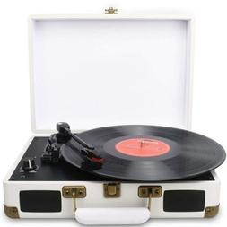 Digitnow!Suitcase Turntable Record Player 3 Speed with Built