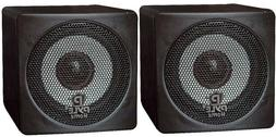 Pyle Home PCB3BK 3-Inch 100-Watt Mini Cube Bookshelf Speaker