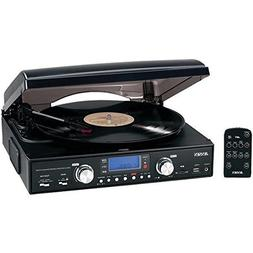 JENJTA460 - JENSEN JTA-460 3-Speed Stereo Turntable with MP3