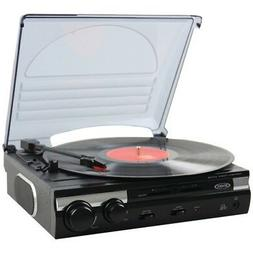 Jensen JTA-230 3 Speed Stereo Turntable with Built in Speake