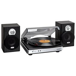 Jensen Jta-325 3-Speed Turntable With Stereo Speakers 15.00I