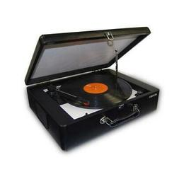 JENSEN JTA-420 PORTABLE TURNTABLE WITH BUILT-IN SPEAKER