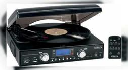 JENSEN JTA-460 Digital 3-Speed Stereo Turntable with MP3 Enc