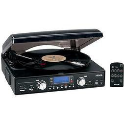 Jensen JTA-460 Digital 3-Speed Turntable - Encoding & AM/FM