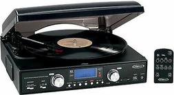 Jensen Jta-460 3-Speed Stereo Turntable With Mp3 Encoding Sy
