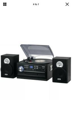 Jensen JTA-475 3-Speed Turntable with CD, Cassette and AM/FM