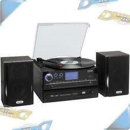 Jensen JTA-990 3-Speed Stereo Turntable CD Recording System