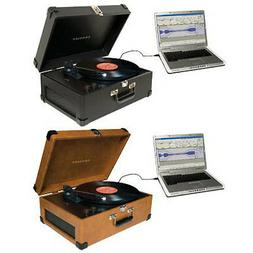 Crosley Radio Keepsake Deluxe Portable USB Turntable in Blac