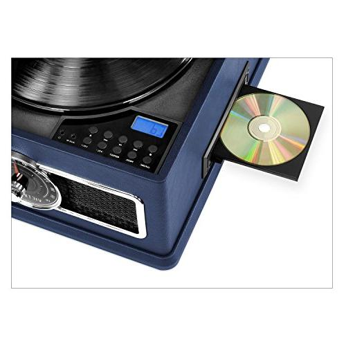 Victrola Record Player with CD, Radio, 3-Speed