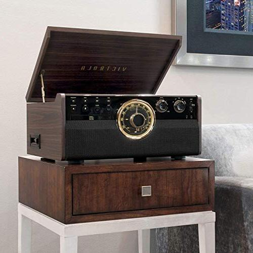 Victrola 6-in-1 Mid Player with 3-Speed Cassette Radio