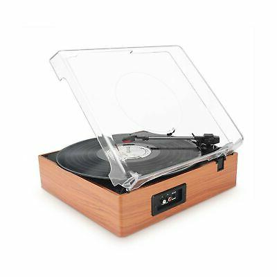1byone Belt-Drive Stereo Turntable with Speakers,