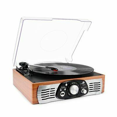 1byone belt drive 3 speed stereo turntable