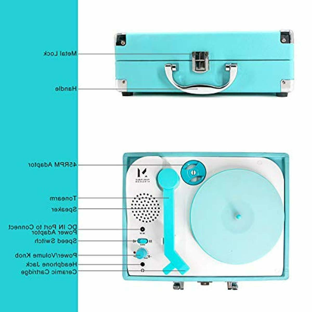 2 Record Player Portable Suitcase Turntable Stereo