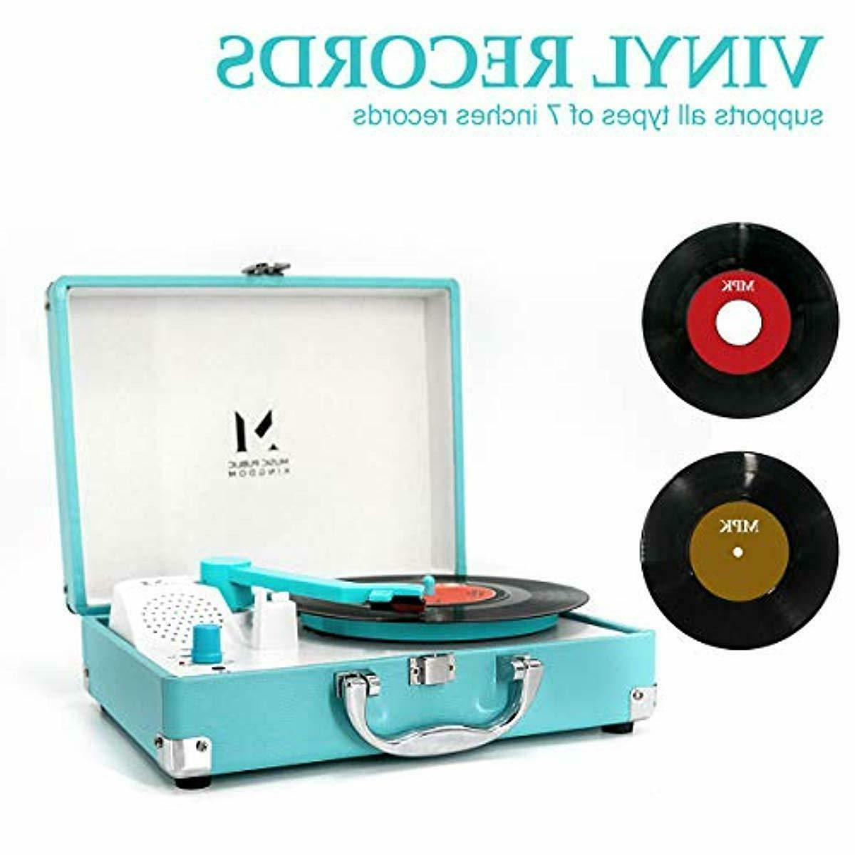 2 Speeds Belt-Drive Record Turntable Stereo