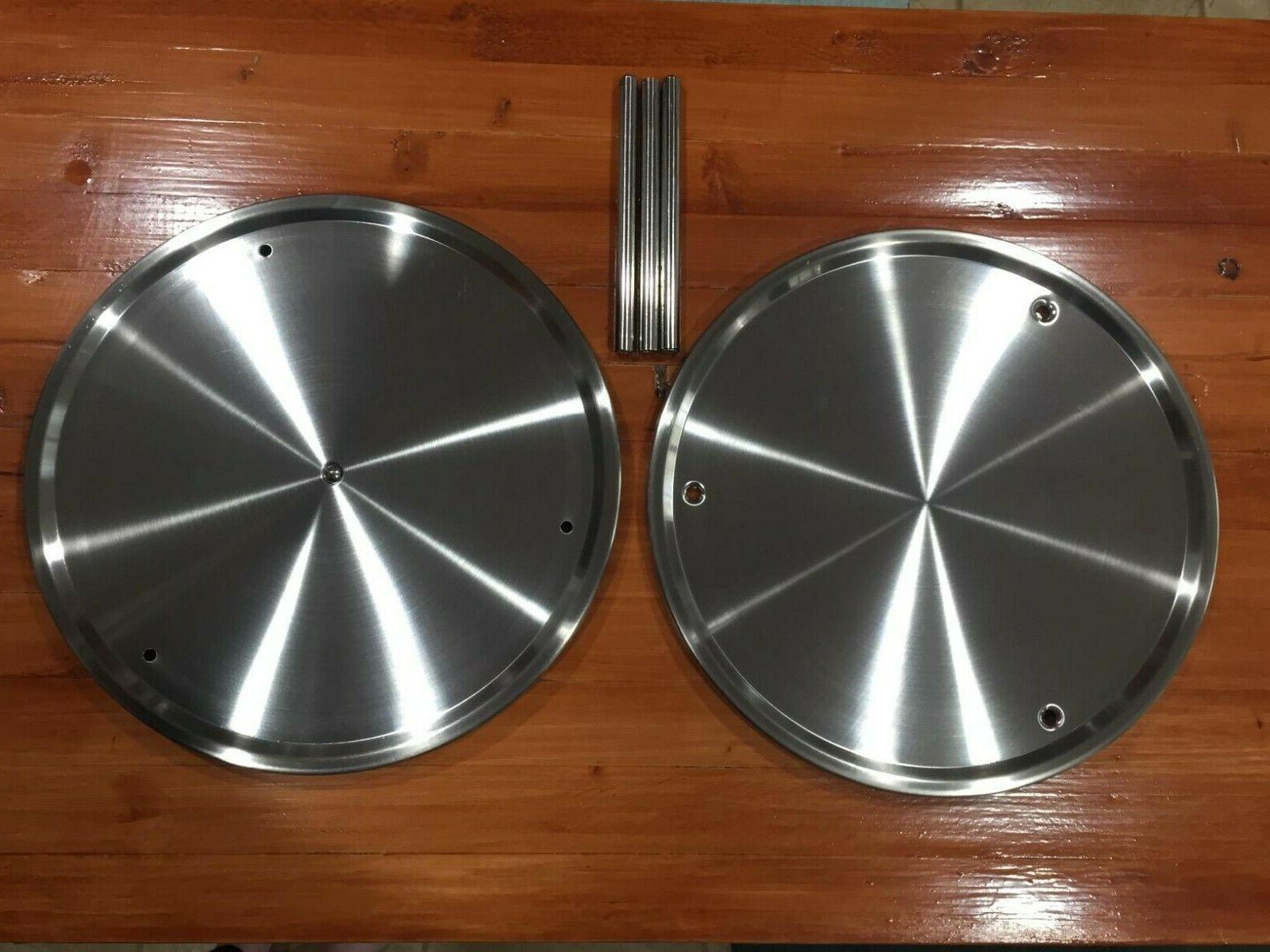 2 Susan, 360-degree Spice Stainless Steel