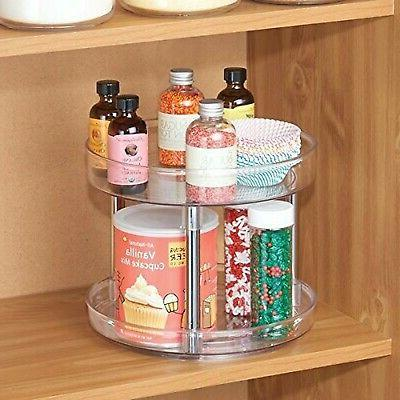 mDesign Susan Turntable Food Container
