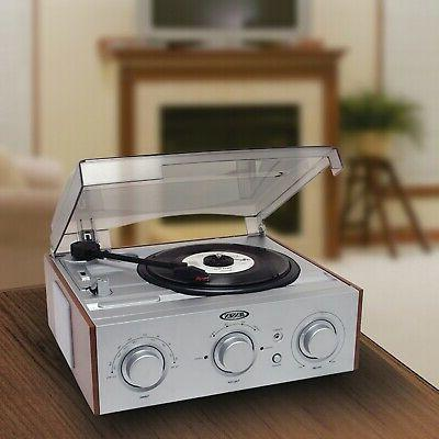 3-SPEED 33/45/78 RPM LP RECORD Player Turntable Stereo Speak