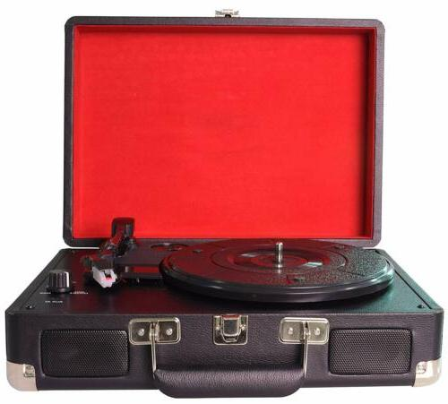3-Speed Portable Turntable/ Vintage Vinyl Archiver Player