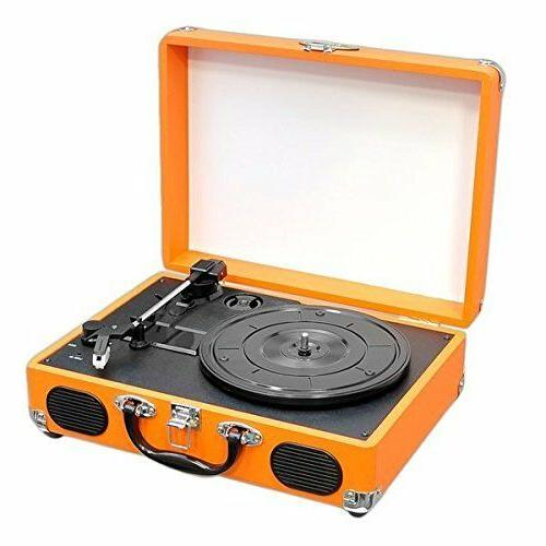 3 speed stereo record player rechargeable turntable