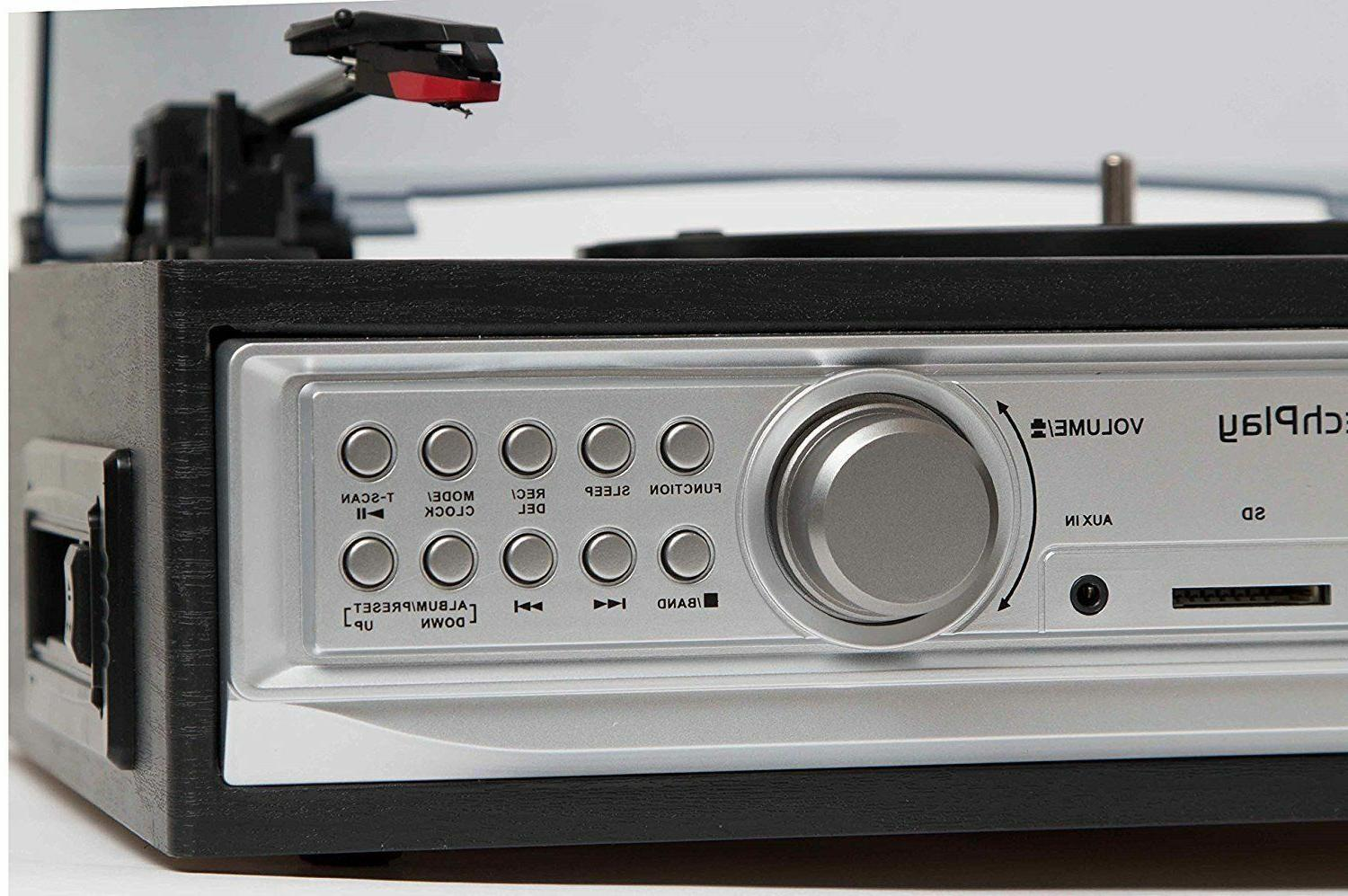 3 Speed Player System with Turntable MP3
