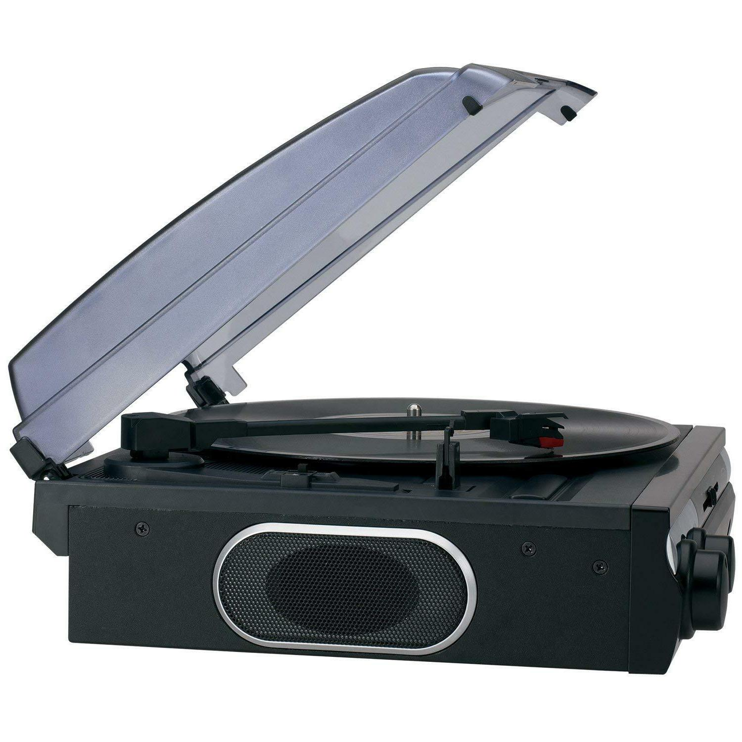 Jensen Stereo Record Player Turntable Built-in Speakers