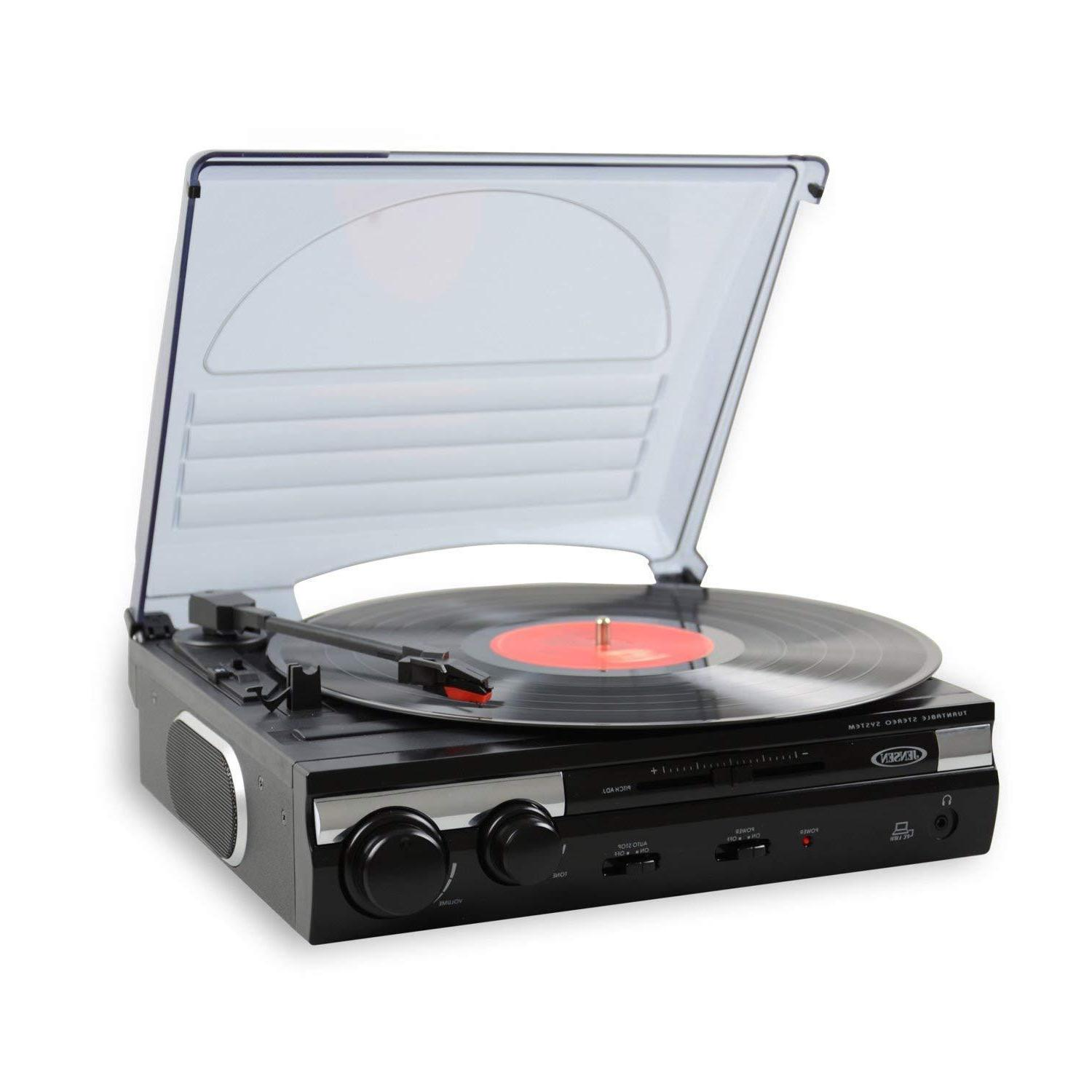 3 speed stereo record player turntable