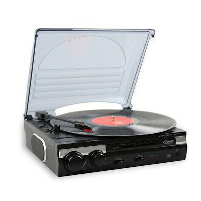 3 speed stereo turntable with built in