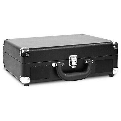 3 speed suitcase turntable with bluetooth black