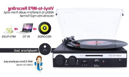 3-speed LP Record Converter Built-in Stereo Speakers
