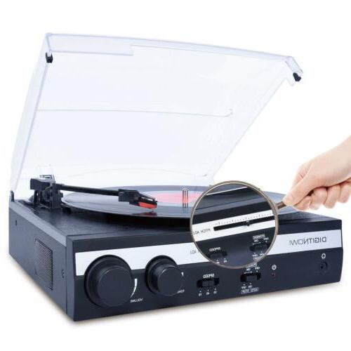 3-speed Turntable Record Stereo