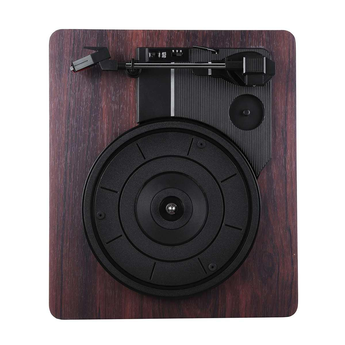 33, 45, <font><b>Record</b></font> Antique Gramophone <font><b>Turntable</b></font> Audio RCA R/L 3.5mm Output Out Wood