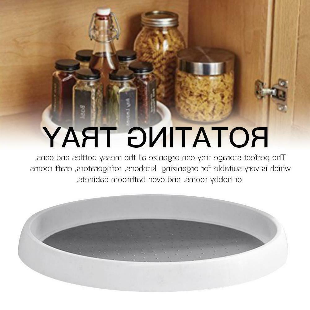 360rotating spice storage rack tray turntable home