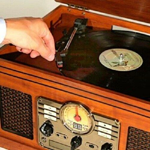 6-in-1 Nostalgic Player with Turntable CD