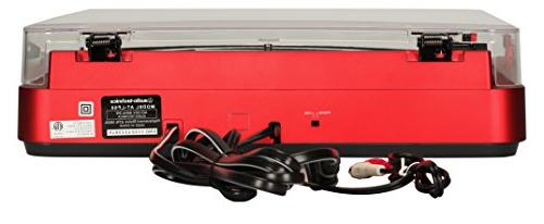 Audio Fully Automatic Turntable System, Red