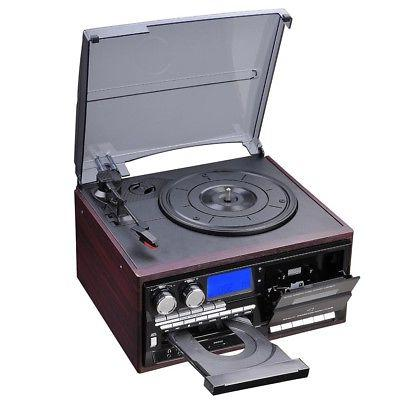 Wireless System with Speakers Turntable AM/FM Cassette