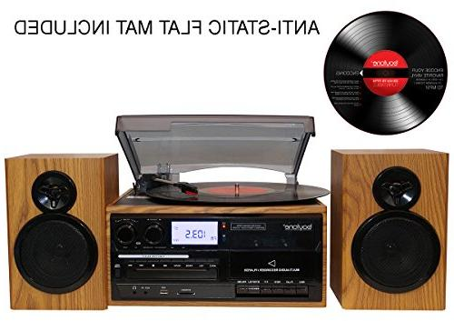 Boytone BT-28SPW, Style Record Player Turntable / Separate Stereo from Vinyl, and Cassette to MP3,