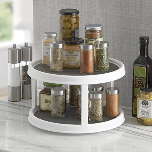 Copco Non-Skid 2-Tier Pantry Cabinet Lazy Turntable,