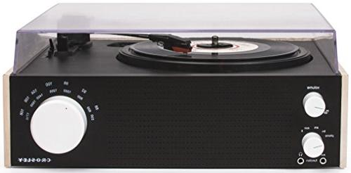 Crosley CR6023A-NA Switch Turntable with AM/FM Radio and Bluetooth Natural