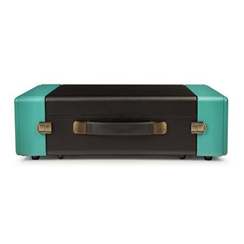 Crosley CR6230A-TU Snap Portable USB with for Ripping Audio, Black/Turquoise