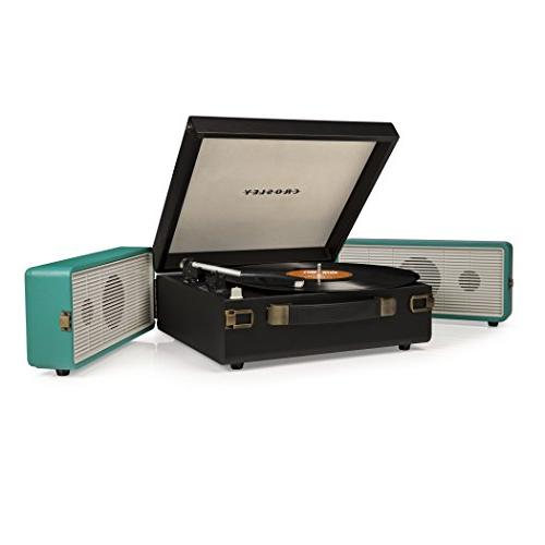 Crosley CR6230A-TU Portable USB for Ripping & Audio, Black/Turquoise