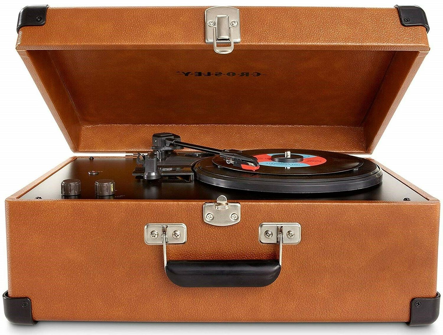 Crosley CR6249A-TA Keepsake Portable USB Turntable with Soft