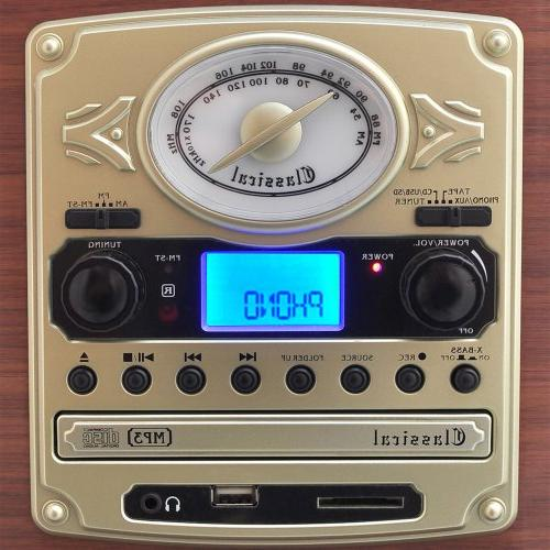 Pyle Vintage Retro With Cassette CD USB Reader, SD Card and Speakers - Audio Files MP3 with LCD