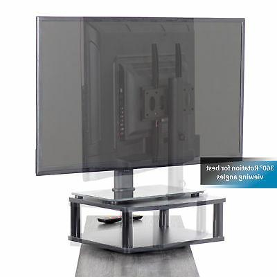 """VIVO Black TV Display Tabletop Stand Rotating Mount for 13"""" to Flat"""