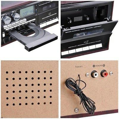 Wireless Stereo Record System Speakers AM/FM CD