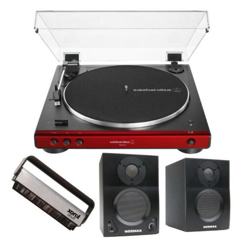 at lp60xbt bluetooth turntable red with monitor