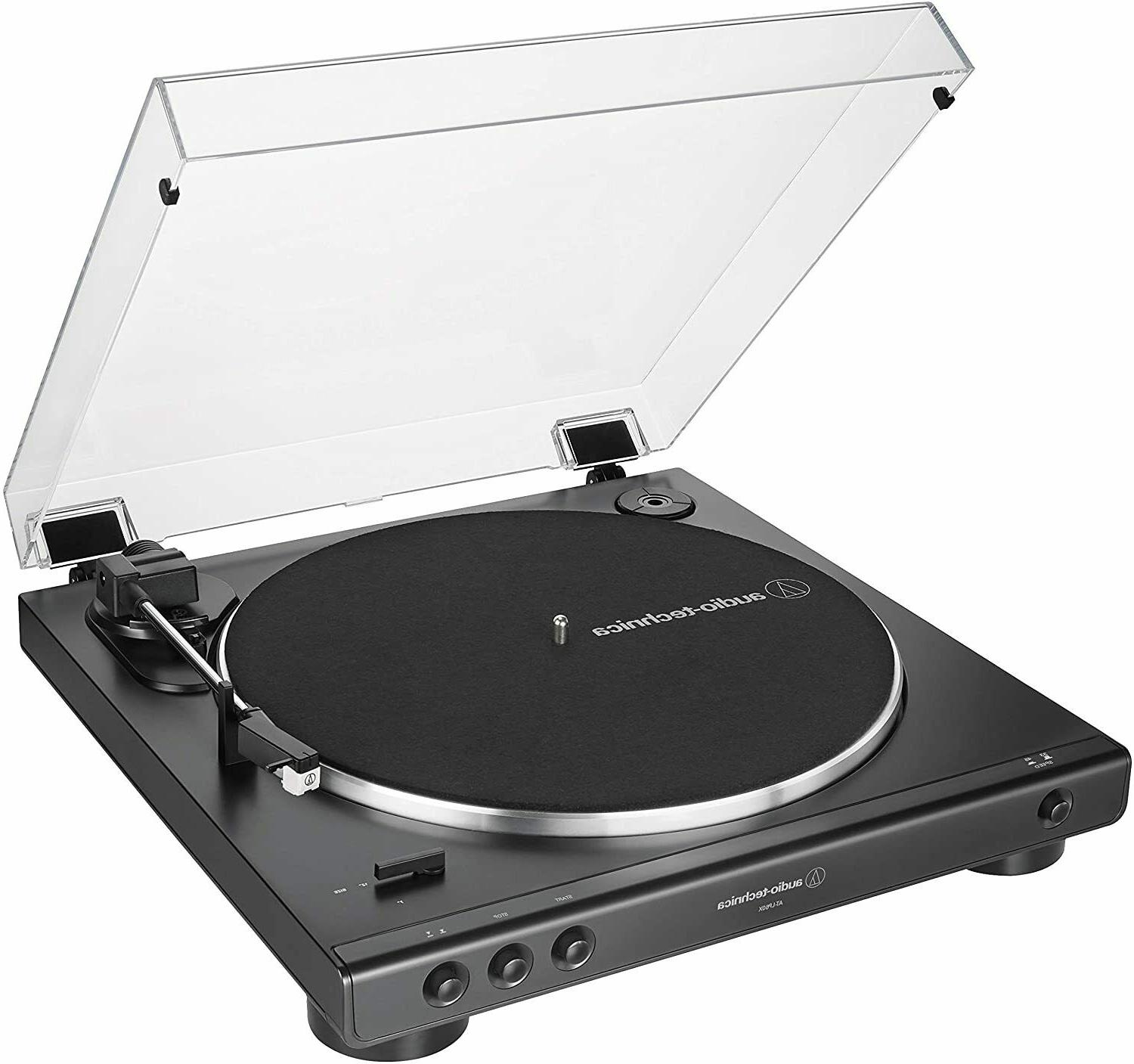 Audio-Technica AT-LP60X-BK Turntable Fully Automatic Belt-Drive Speed