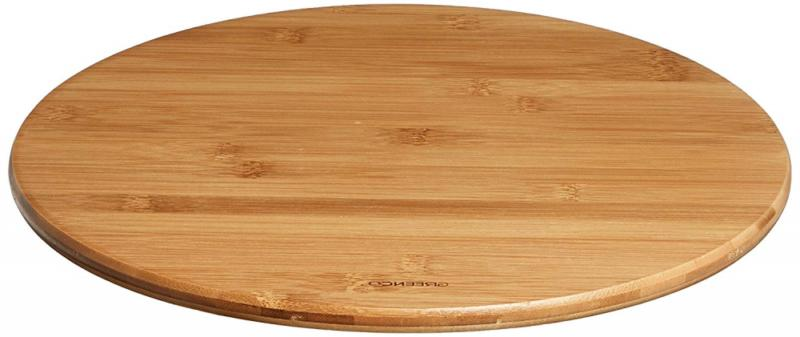 bamboo lazy susan turntable 13 inch diameter