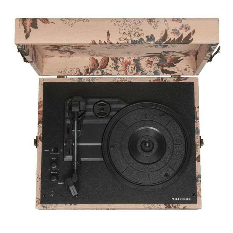 Bluetooth Portable Suitcase Record Player w/ Turntable